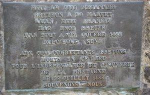 Une des plaques du monument de 1988